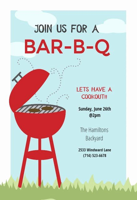 Free Printable Cookout Invitations Awesome Bbq Party Invitation & Flyer Templates Free