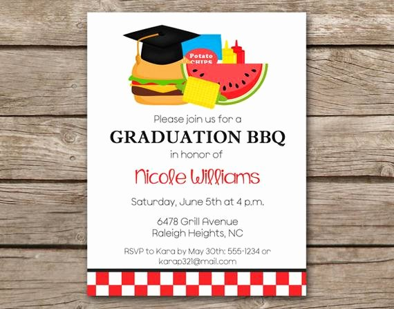 Free Printable Cookout Invitations Awesome Graduation Bbq Invitation Bbq Invitation Graduation