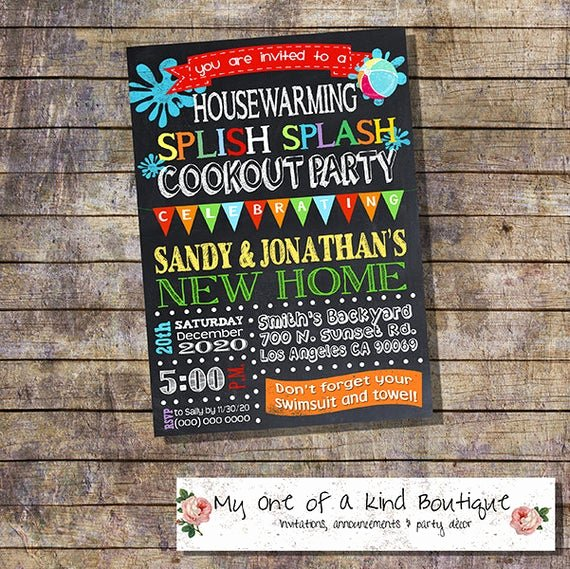Free Printable Cookout Invitations Best Of Items Similar to Cookout Pool Party Housewarming