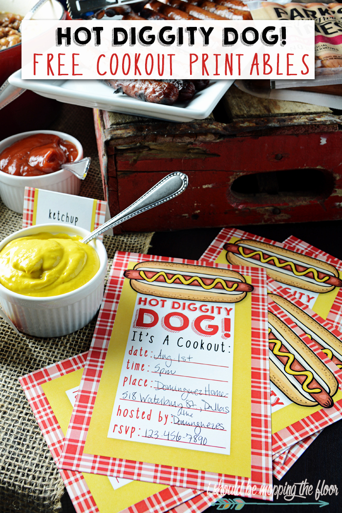 Free Printable Cookout Invitations Elegant I Should Be Mopping the Floor Hot Diggity Dog Free