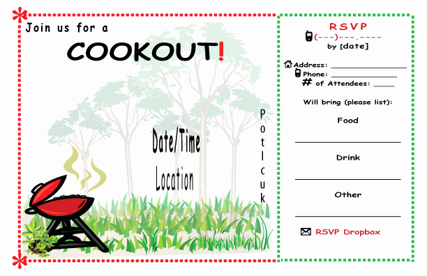 Free Printable Cookout Invitations Fresh 9 Best Of Cookout Templates for Word Free