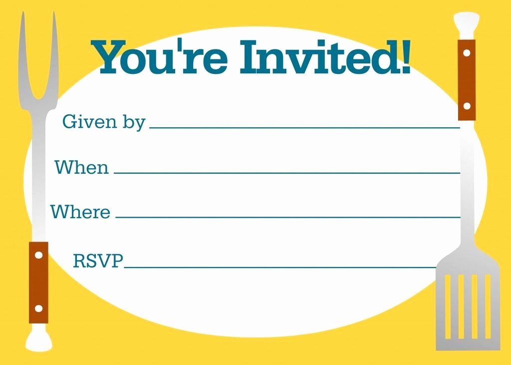 Free Printable Cookout Invitations Inspirational Free Bbq Party Invitations Templates Bbq