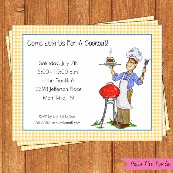 Free Printable Cookout Invitations Lovely Grill Cookout Invitation Picnic Printable Editable Digital