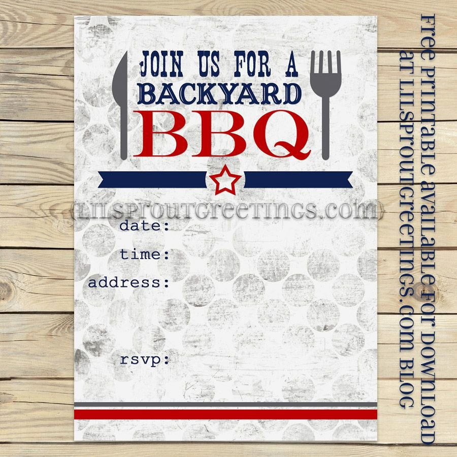 Free Printable Cookout Invitations Luxury Free Printable Bbq Party Invite Lilsproutgreetings Free