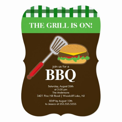 Free Printable Cookout Invitations New Summer Barbecue Cookout Invitation