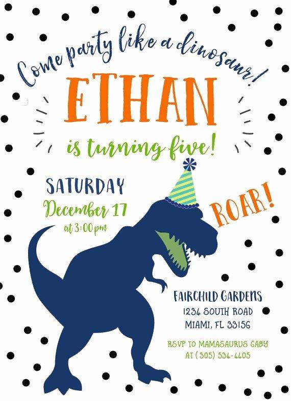 Free Printable Dinosaur Birthday Invitations Beautiful Dinosaur Birthday Invitation Dinosaur Invitation Dinosaur Birthday Party Invite Dino Birthday
