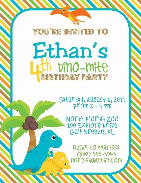 Free Printable Dinosaur Birthday Invitations Beautiful Free Line Dinosaur Party Invitations Birthday Party Dinosaur themed In 2019