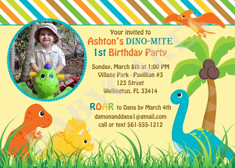 Free Printable Dinosaur Birthday Invitations Elegant Dinosaur Birthday Invitation