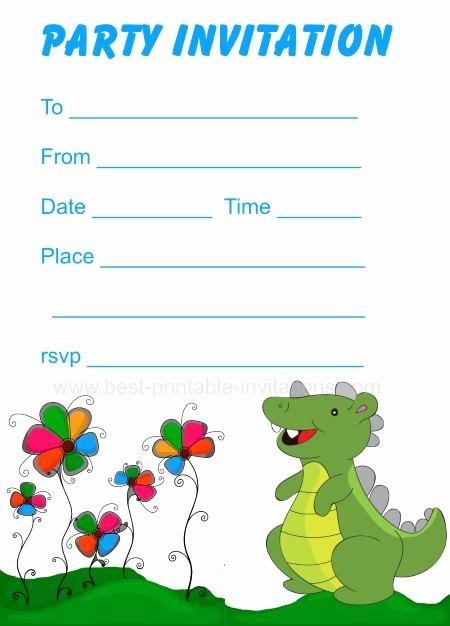 Free Printable Dinosaur Birthday Invitations Fresh Printable Dinosaur Birthday Invitations