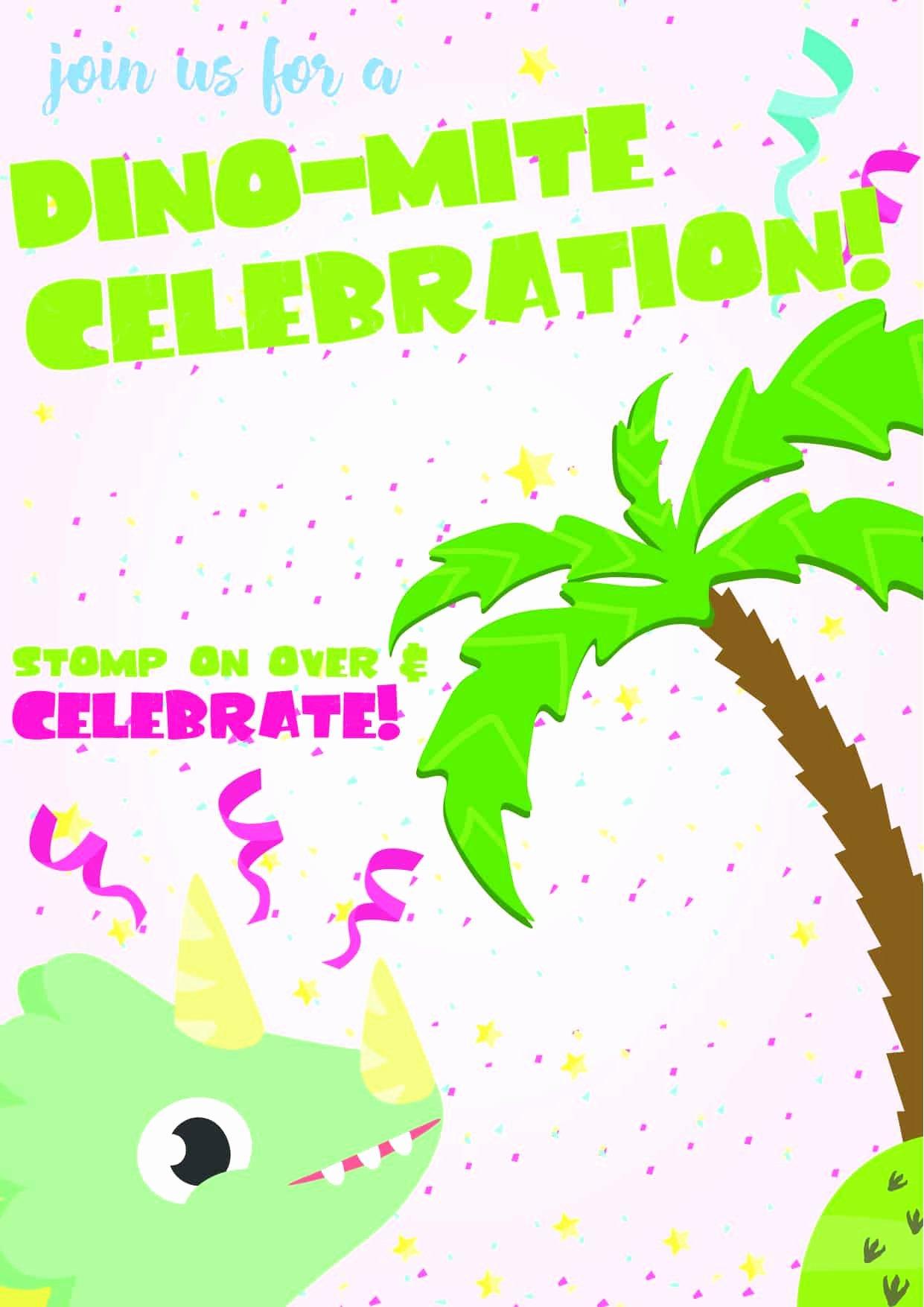 Free Printable Dinosaur Birthday Invitations Lovely Dinosaur Birthday Invitations Free Printable Party with Unicorns
