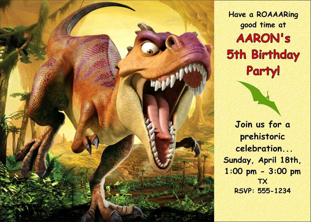 Free Printable Dinosaur Birthday Invitations Luxury Dinosaur Birthday Party Invitations