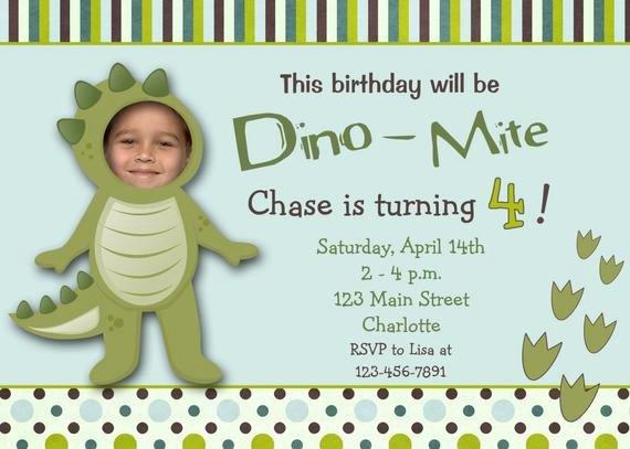 dinosaur party birthday invitation