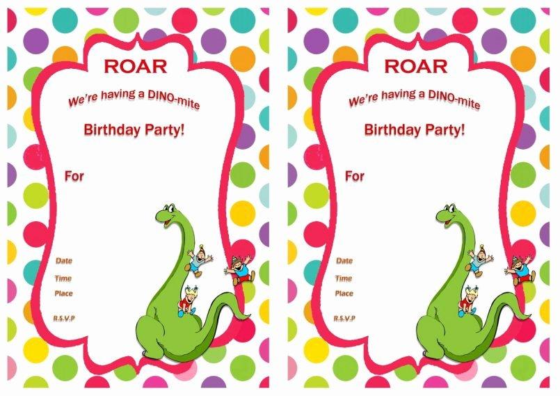 Free Printable Dinosaur Birthday Invitations Unique Template Printable Dinosaur Birthday Invitations Walmart with – Best Party Ideas