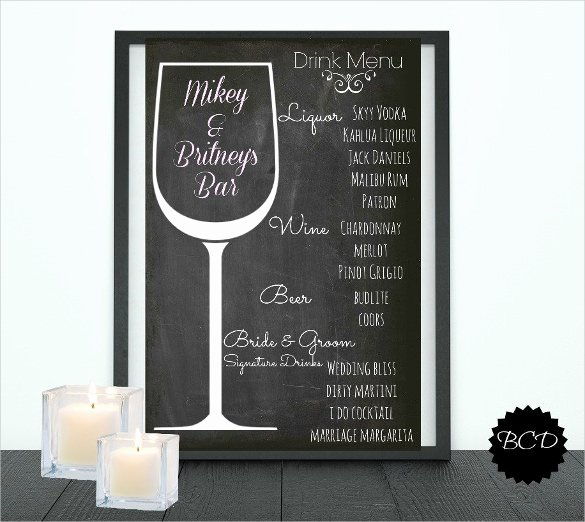 Free Printable Drink Menu Template Lovely Drink Menu Templates – 30 Free Psd Eps Documents Download