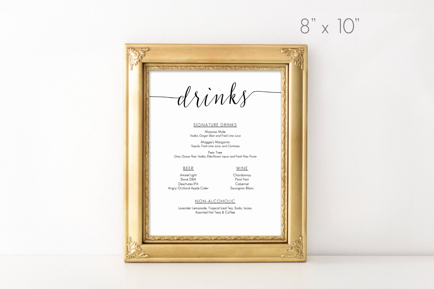 Free Printable Drink Menu Template Lovely Drinks Menu Template Printable 8x10 Inches Microsoft Word
