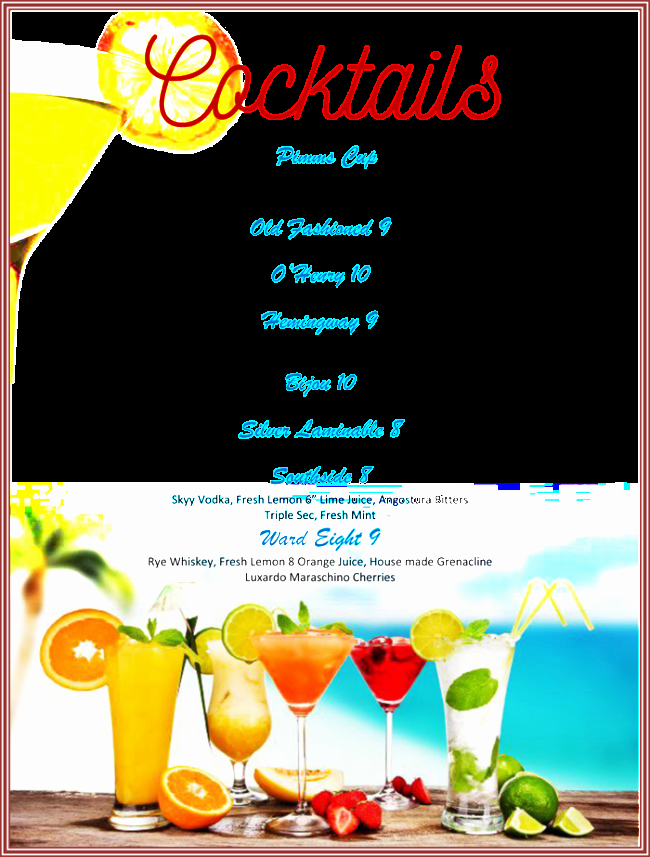 Free Printable Drink Menu Template Unique Drink Menu Template 5 Best Drink Menu formats