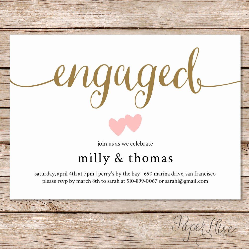 Free Printable Engagement Party Invitations Best Of Engagement Party Invitation Engagement Party Invite by Paperhive