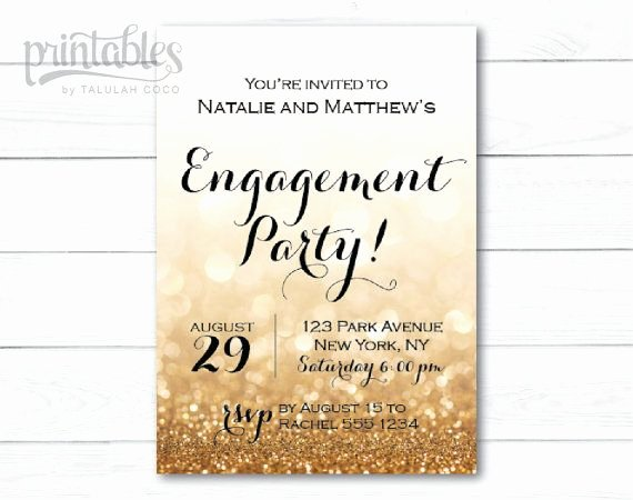 Free Printable Engagement Party Invitations Elegant Engagement Party Invitation Printable Black and Gold Engagement Invitation Template Sparkle