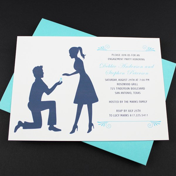 Free Printable Engagement Party Invitations Elegant Engagement Party Invitation Template Silhouette Couple – Download & Print