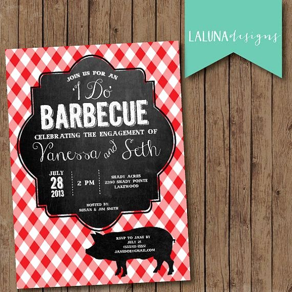 Free Printable Engagement Party Invitations Fresh Engagement Party Invitation I Do Bbq Red Gingham Chalkboard Engagement Party Invite Diy