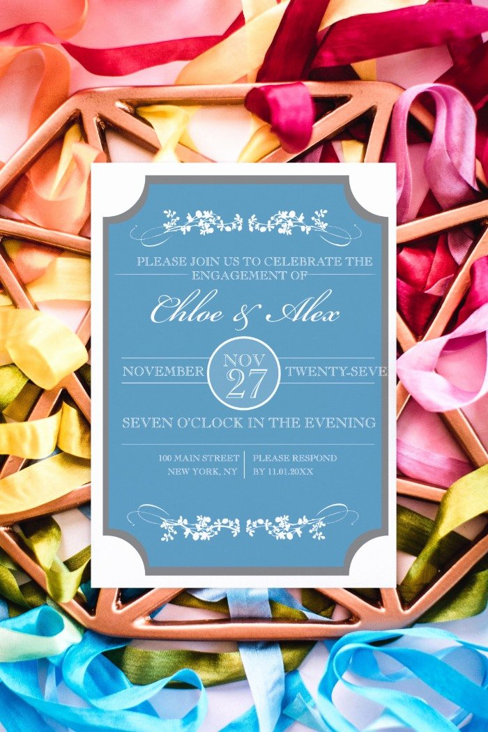 Free Printable Engagement Party Invitations Inspirational Print sophisticated Engagement Party Free Printable Invitation