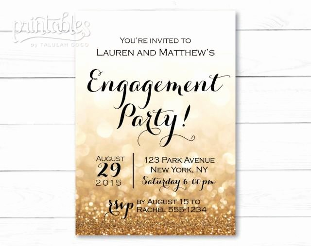 Free Printable Engagement Party Invitations Luxury Engagement Party Invitation Printable Black and Gold Engagement Invitation Template Sparkle