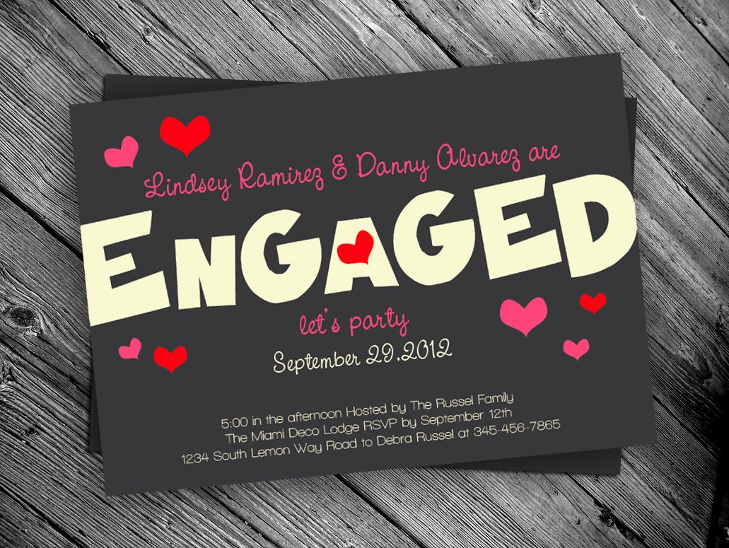 Free Printable Engagement Party Invitations Luxury Engagement Party Printable Invitation