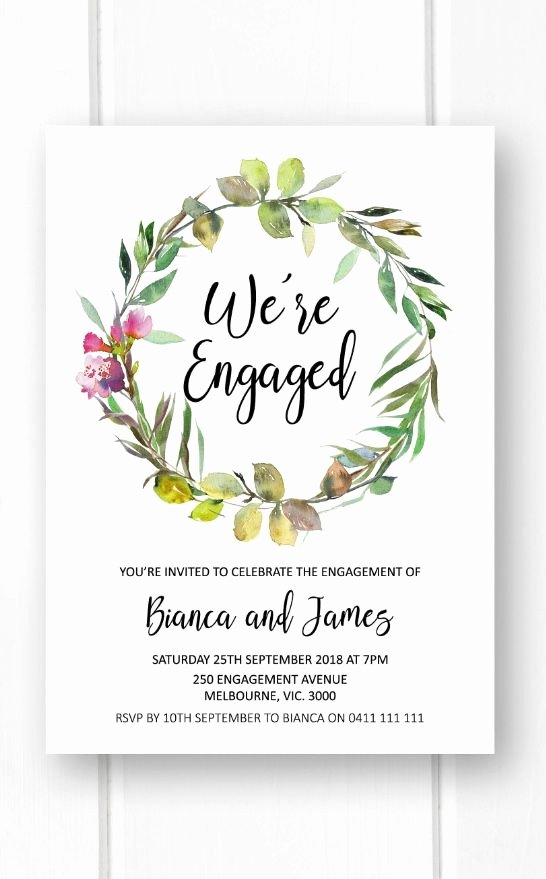 Free Printable Engagement Party Invitations Luxury Rustic Engagement Invitations Printable Engagement Party Invitation Greenery Garden Engagement