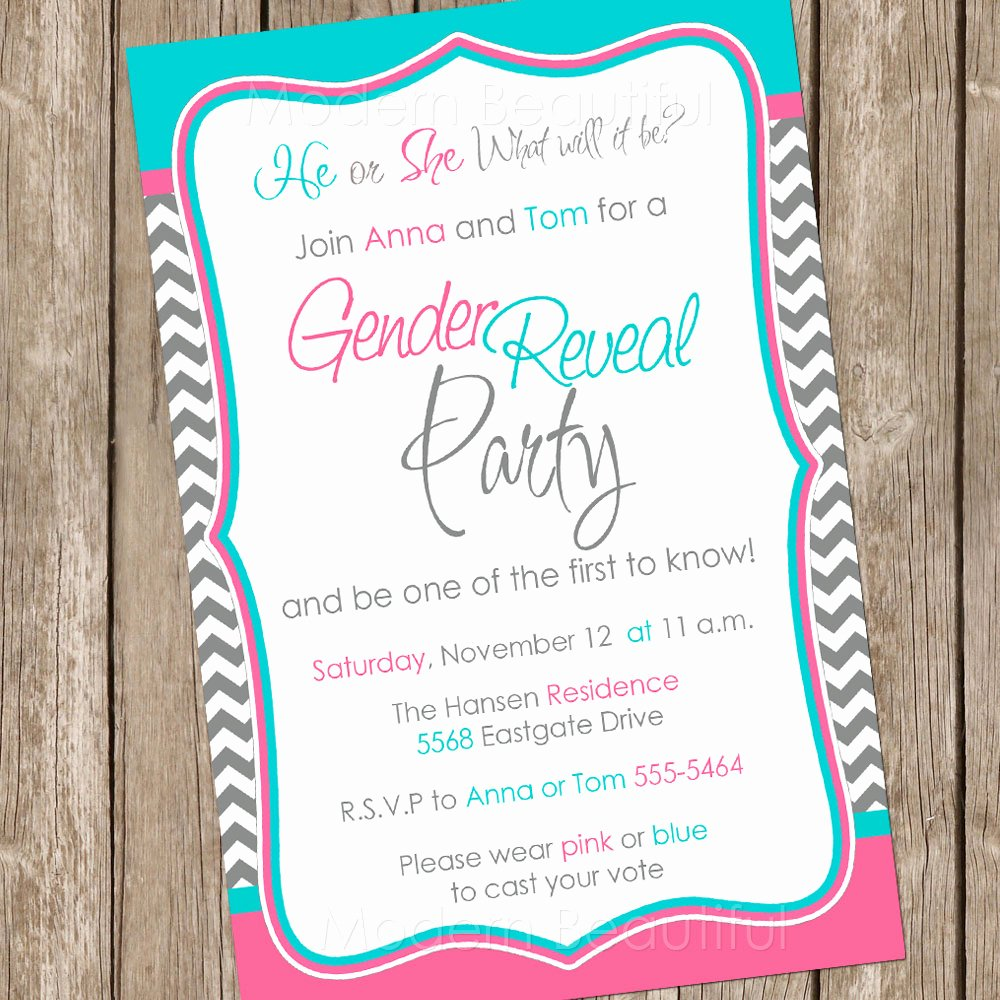 Free Printable Gender Reveal Invitations Beautiful Gender Reveal Invitation Baby Reveal Invite Printable