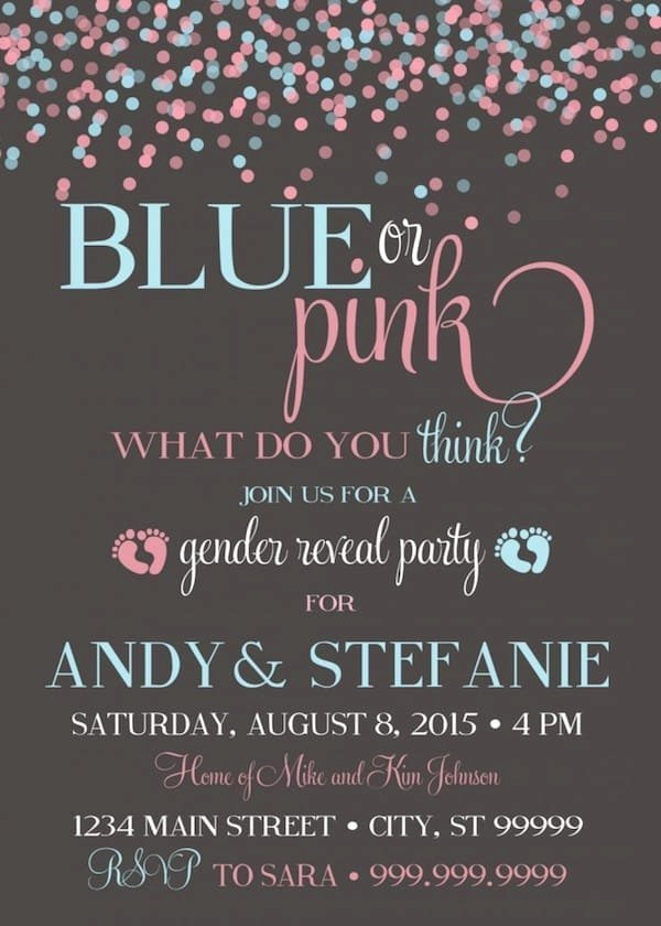 Free Printable Gender Reveal Invitations Best Of 10 Baby Gender Reveal Party Ideas Baby Shower