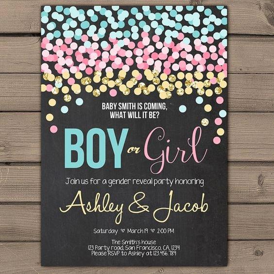 Free Printable Gender Reveal Invitations Best Of Pinterest • the World's Catalog Of Ideas