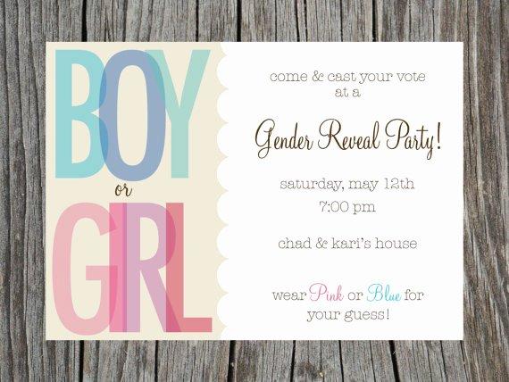 Free Printable Gender Reveal Invitations Fresh Free Printable Gender Reveal Invitations
