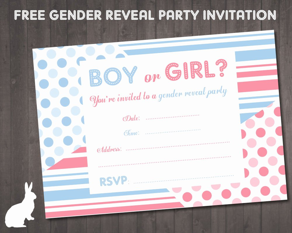 Free Printable Gender Reveal Invitations Inspirational Free Gender Reveal Party Invitations