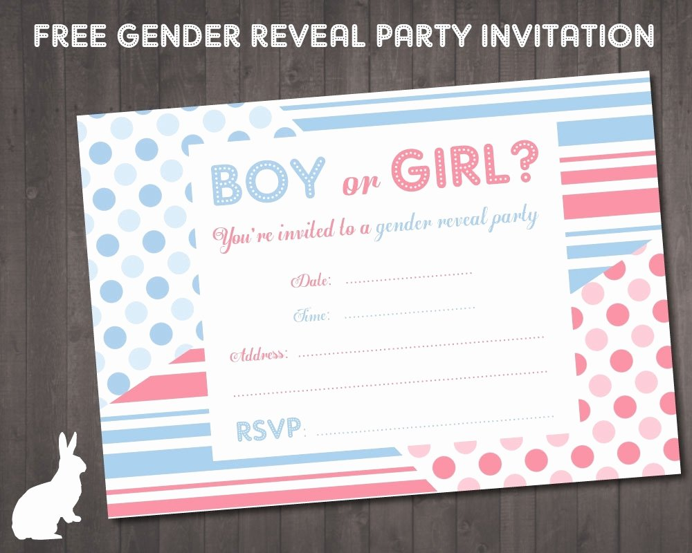 Free Printable Gender Reveal Invitations Inspirational Gender Reveal Invitations Free Printable Cobypic