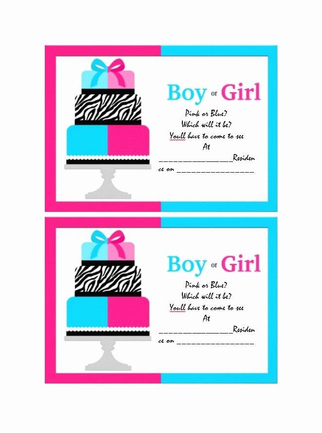 Free Printable Gender Reveal Invitations Lovely 17 Free Gender Reveal Invitation Templates Template Lab