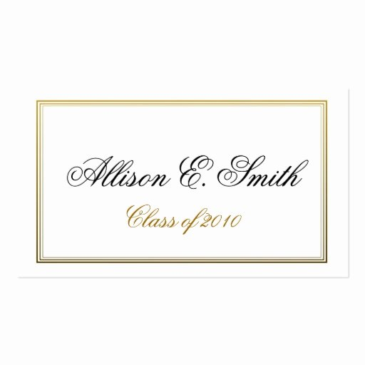 Free Printable Graduation Name Cards Beautiful Triple Bordered Graduation Name Card Business Card Template