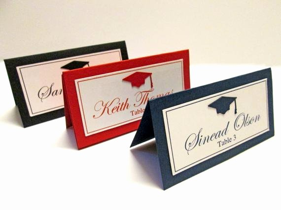 Free Printable Graduation Name Cards Elegant Graduation Place Cards Graduation Party Decorations High