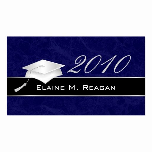 Free Printable Graduation Name Cards Elegant High School Graduation Name Cards 2010 Business Cards