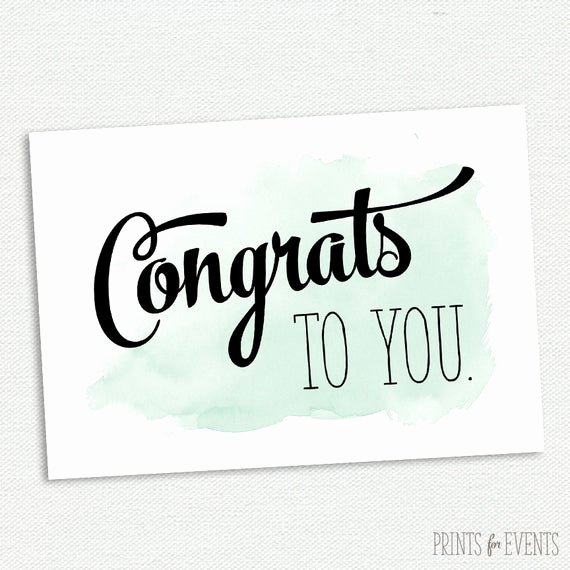 Free Printable Graduation Name Cards Elegant Printable Congratulations Card Graduation Card Mint and