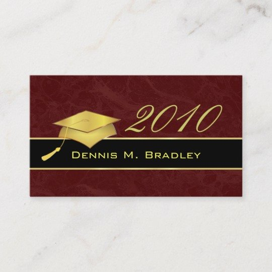 Free Printable Graduation Name Cards Lovely High School Graduation Name Cards 2010