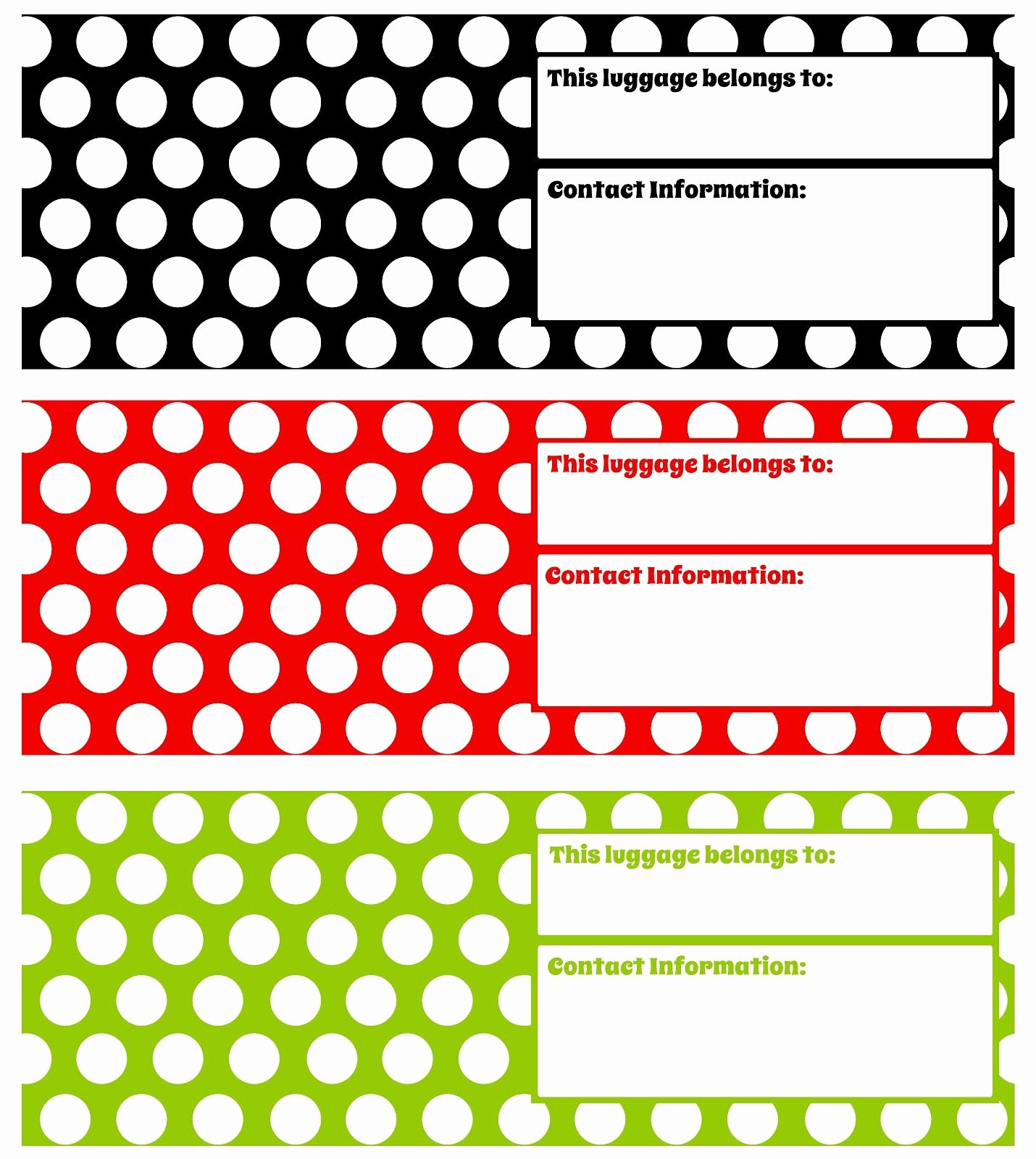 Free Printable Luggage Tags Best Of Printable Luggage Tags Digi Freebies Pinterest
