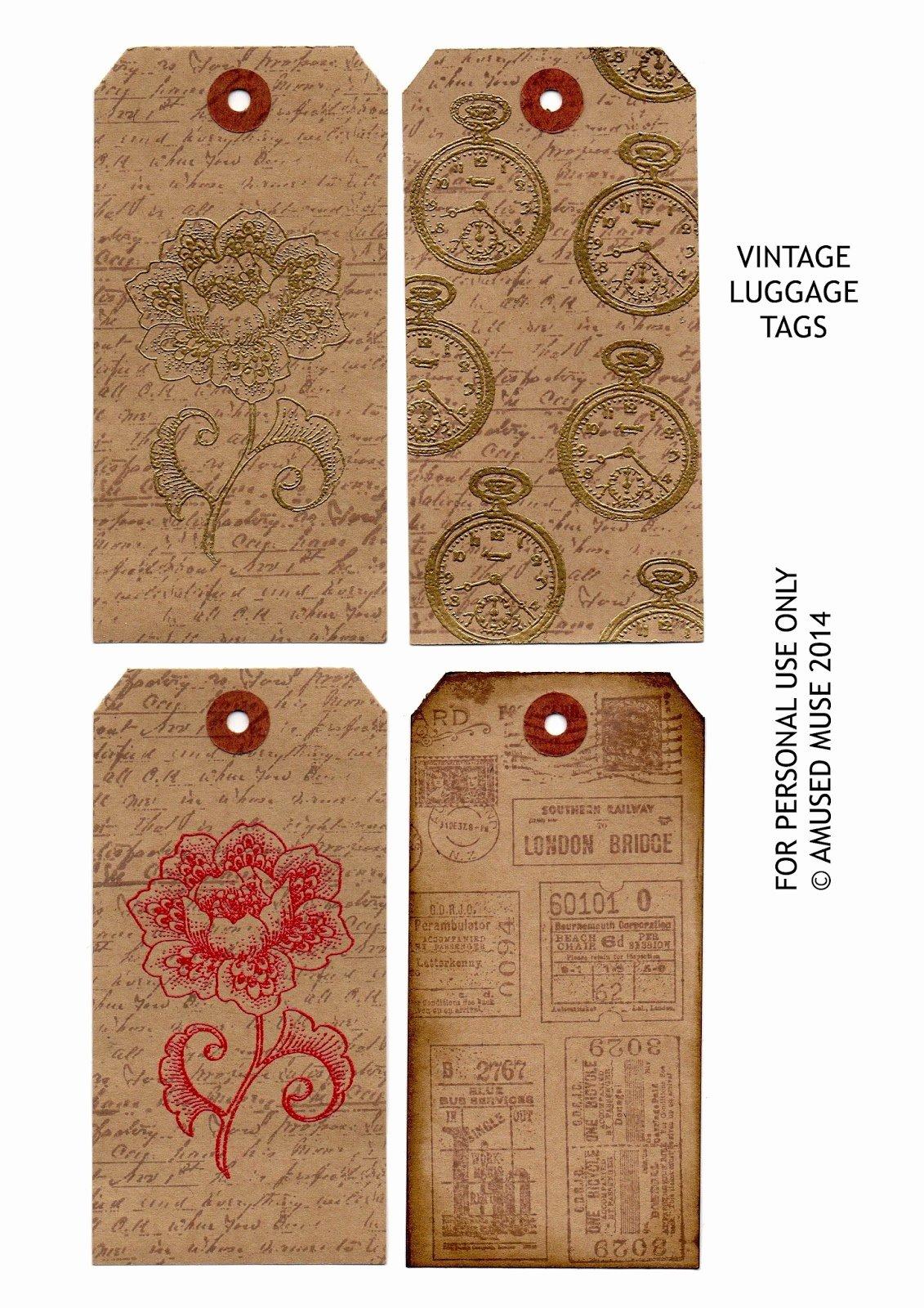 Free Printable Luggage Tags Inspirational Amused Muse Vintage Luggage Tags Free Printable