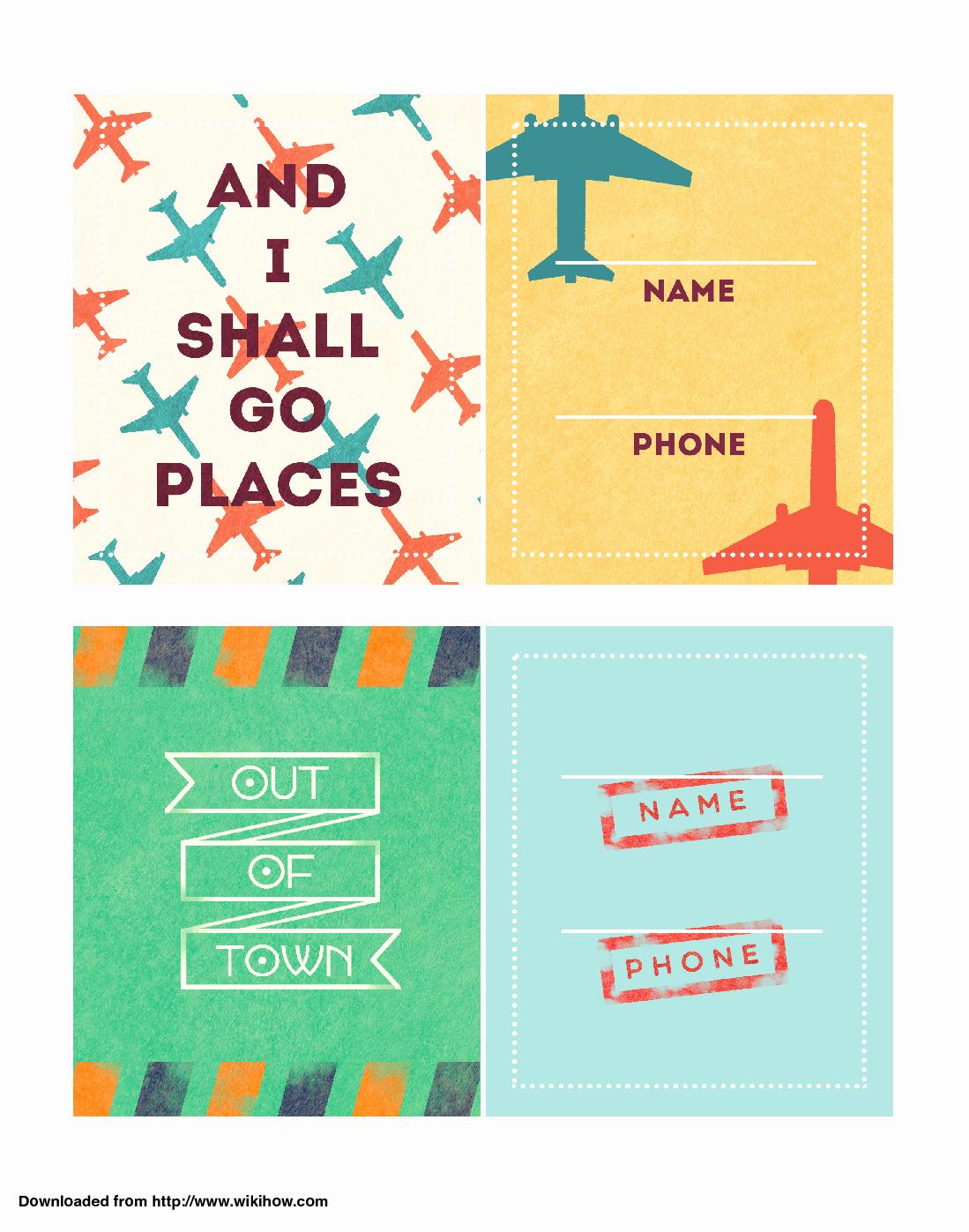 Free Printable Luggage Tags Inspirational Printable Luggage Tags Wikihow