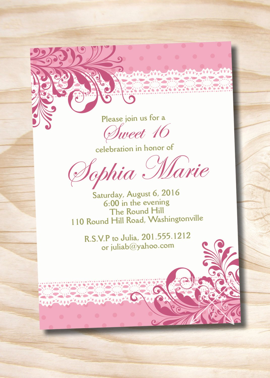 Free Printable Quinceanera Invitations Beautiful Shabby Chic Sweet 16 Birthday Quinceanera Invitation