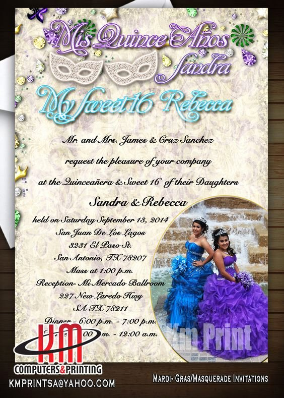 Free Printable Quinceanera Invitations Best Of Km Print Custom Invitations San Antonio