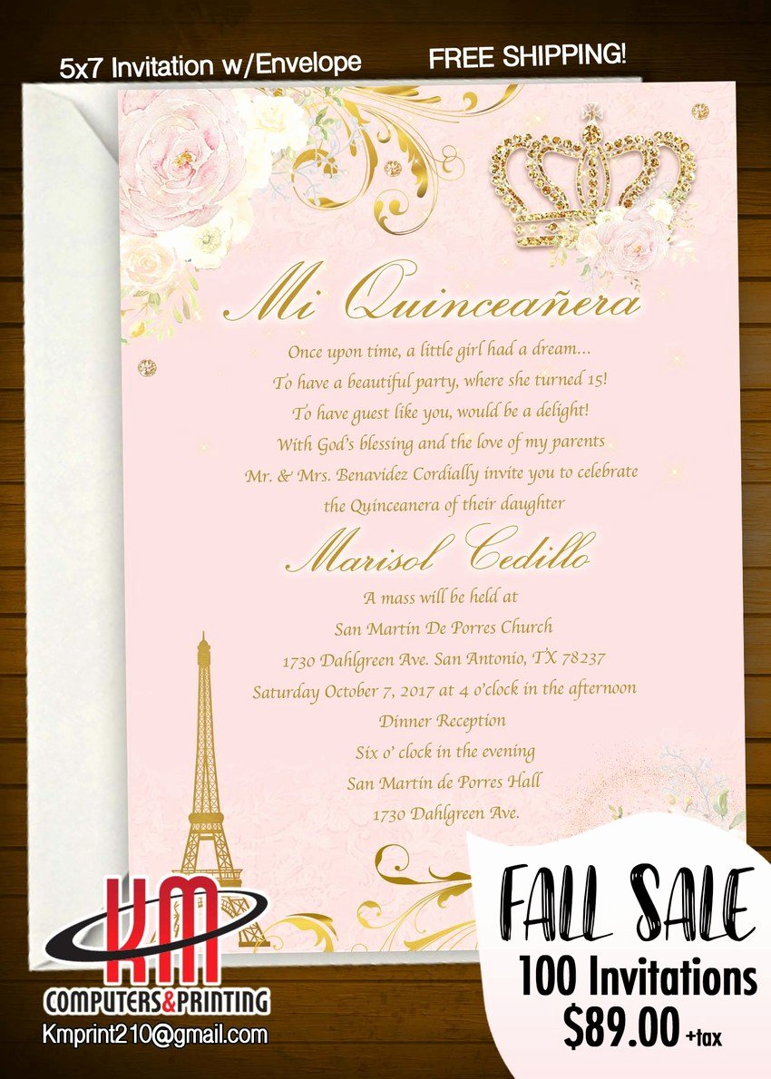 Free Printable Quinceanera Invitations Inspirational Km Print Custom Invitations San Antonio