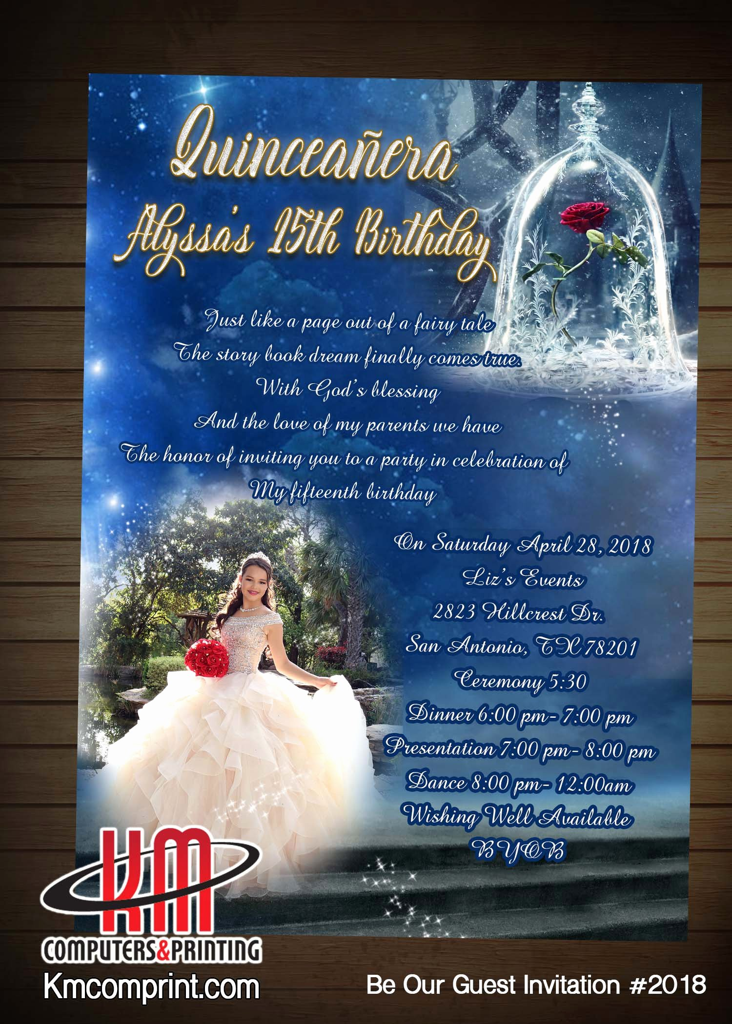 Free Printable Quinceanera Invitations New Km Print Custom Invitations San Antonio
