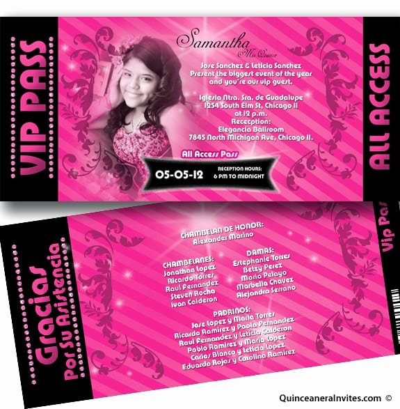 Free Printable Quinceanera Invitations Unique Printable Quinceanera Invitation