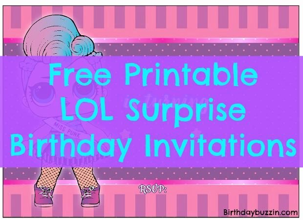 Free Printable Surprise Birthday Invitations Best Of Free Printable Lol Surprise Birthday Party Invitations