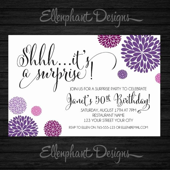 Free Printable Surprise Birthday Invitations New Best 25 Surprise Birthday Invitations Ideas On Pinterest